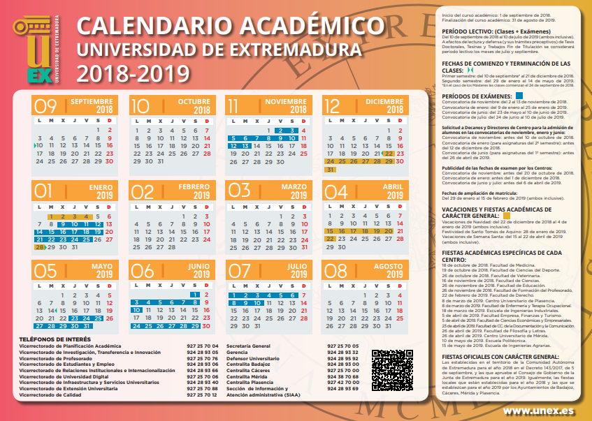 Calendario Uex.Escuela Politecnica Portal De La Uex Bienvenido A La Universidad