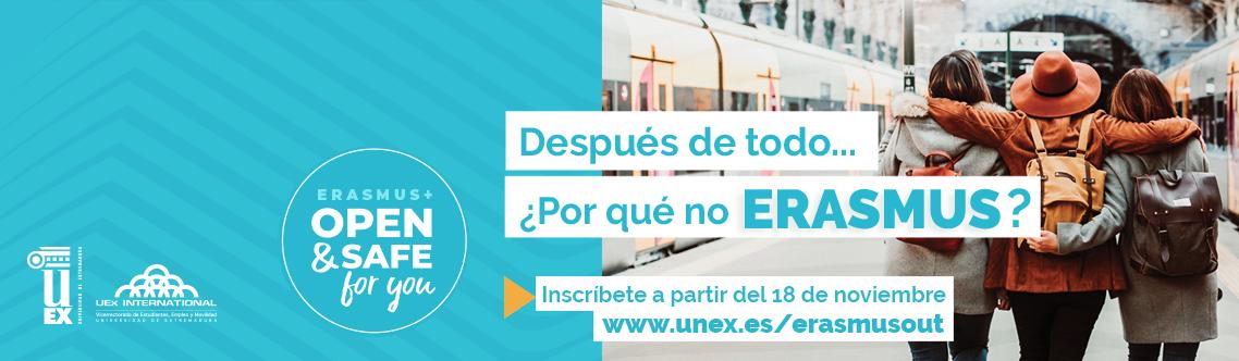 Convocatoria Abierta ERASMUS+ Estudios 2021/2022