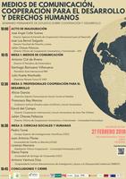"""""""Medios de Comunicación, Cooperación para el Desarrollo y Derechos Humanos""""   27 de Febrero 2018  Cáceres"""