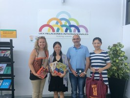 Visita profesoras XIAOJING QIU y HAN WU