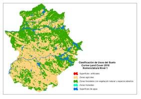 Usos del suelo en Extremadura